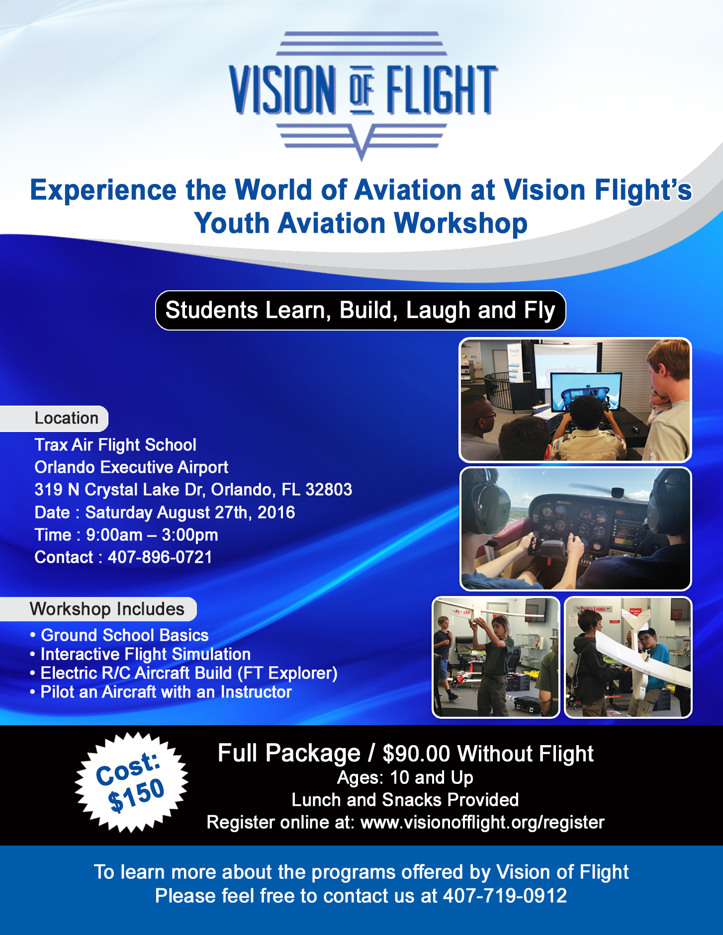 Vision Flight's Youth Aviation Workshop